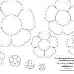 15 Printable Flower Patterns Designs Images   Paper Flower Templates   Free Printable Flower Applique Patterns