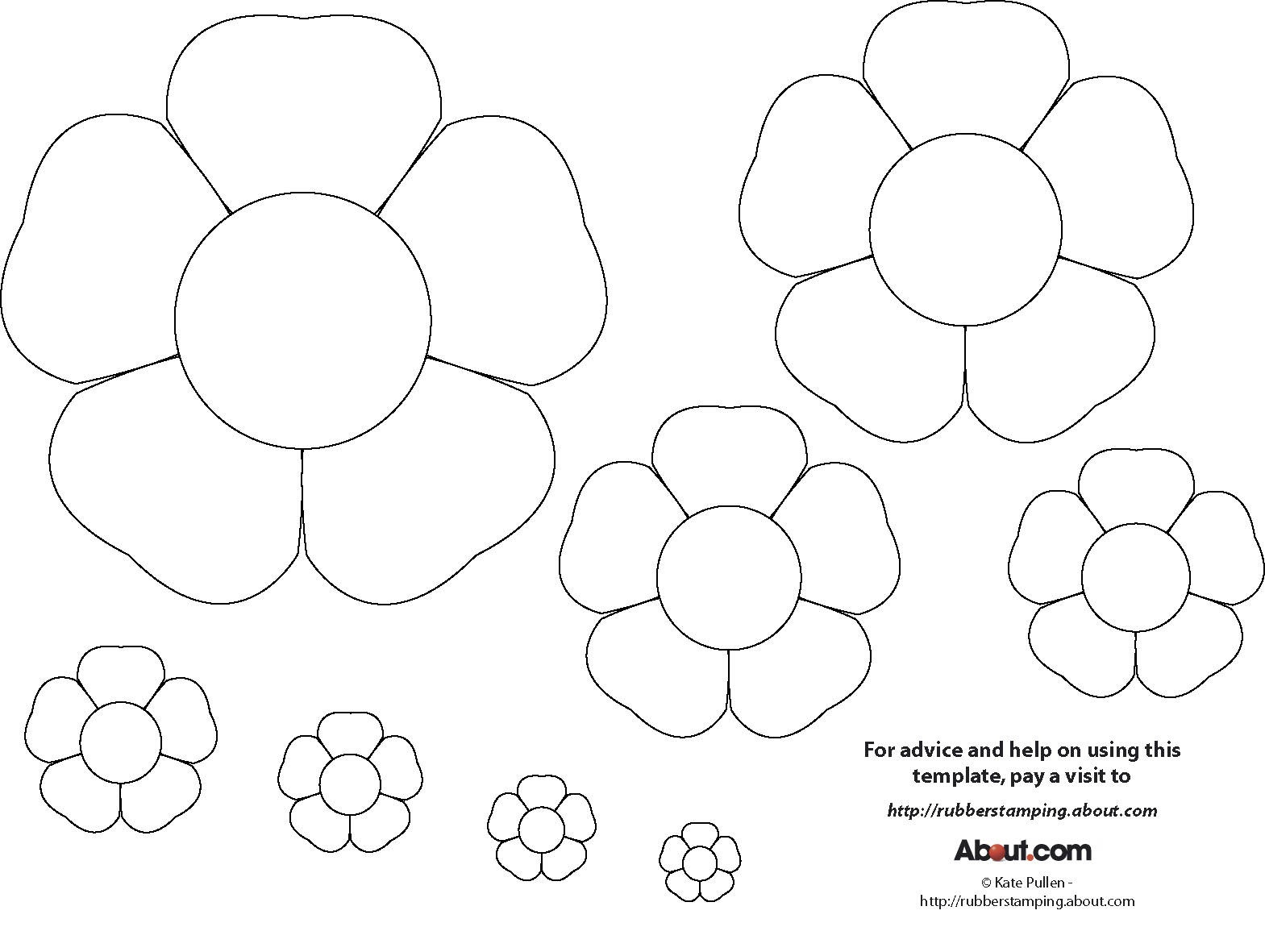 15 Printable Flower Patterns Designs Images - Paper Flower Templates - Free Printable Flower Applique Patterns