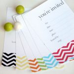 17 Free, Printable Birthday Invitations   Free Chevron Printable Invitations