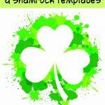 17+ Free Printable Four Leaf Clover & Shamrock Templates | Spring   Free Printable Shamrocks