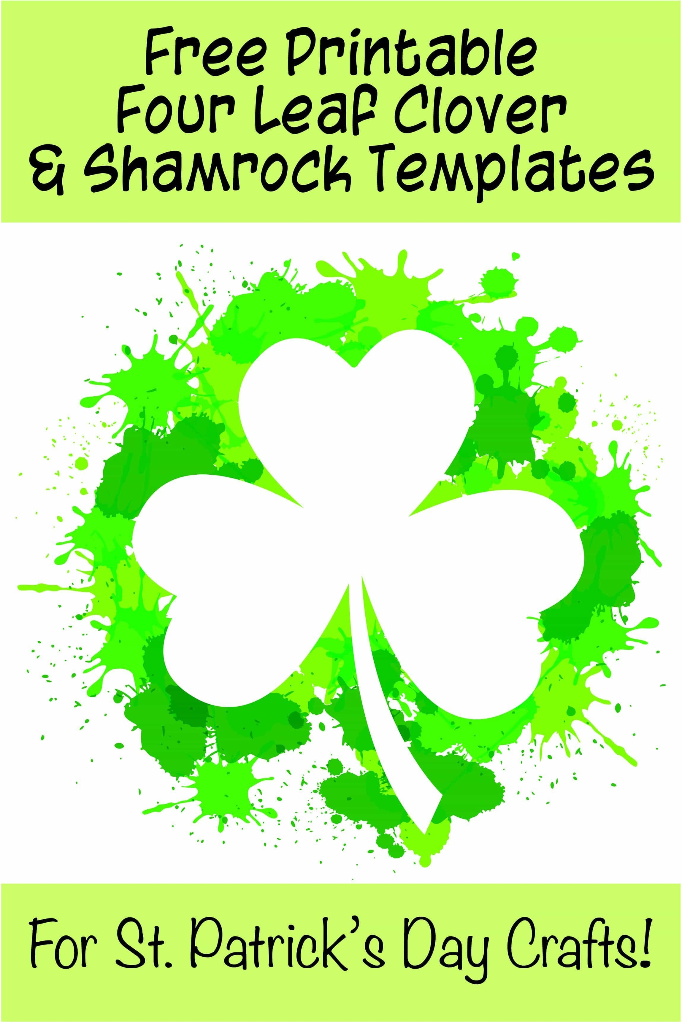 17+ Free Printable Four Leaf Clover & Shamrock Templates | Spring - Free Printable Shamrocks