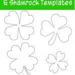 17+ Free Printable Four Leaf Clover & Shamrock Templates   The   Shamrock Template Free Printable