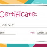 173 Free Gift Certificate Templates You Can Customize In Printable   Free Printable Gift Certificate Template