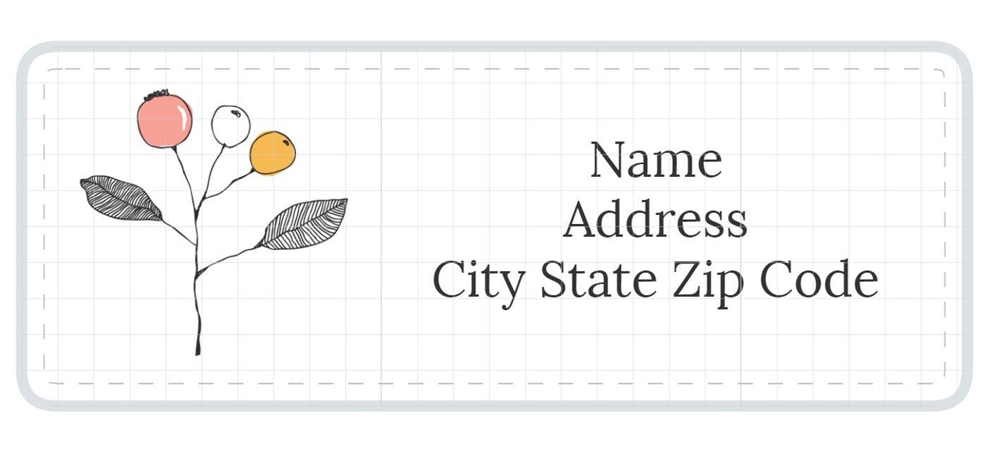 1,789 Address Label Templates - Free Printable Address Label Templates