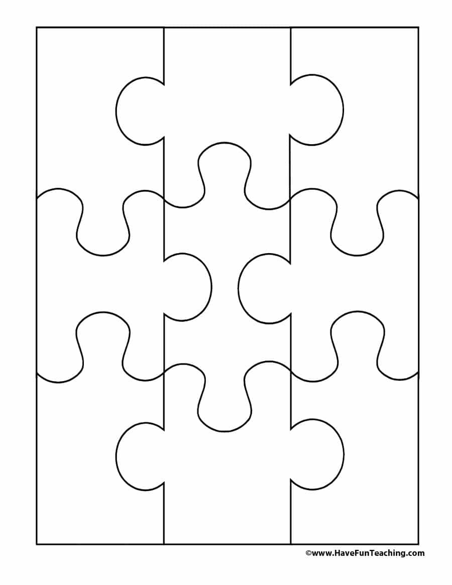 19 Printable Puzzle Piece Templates ᐅ Template Lab - Jigsaw Puzzle Maker Free Printable