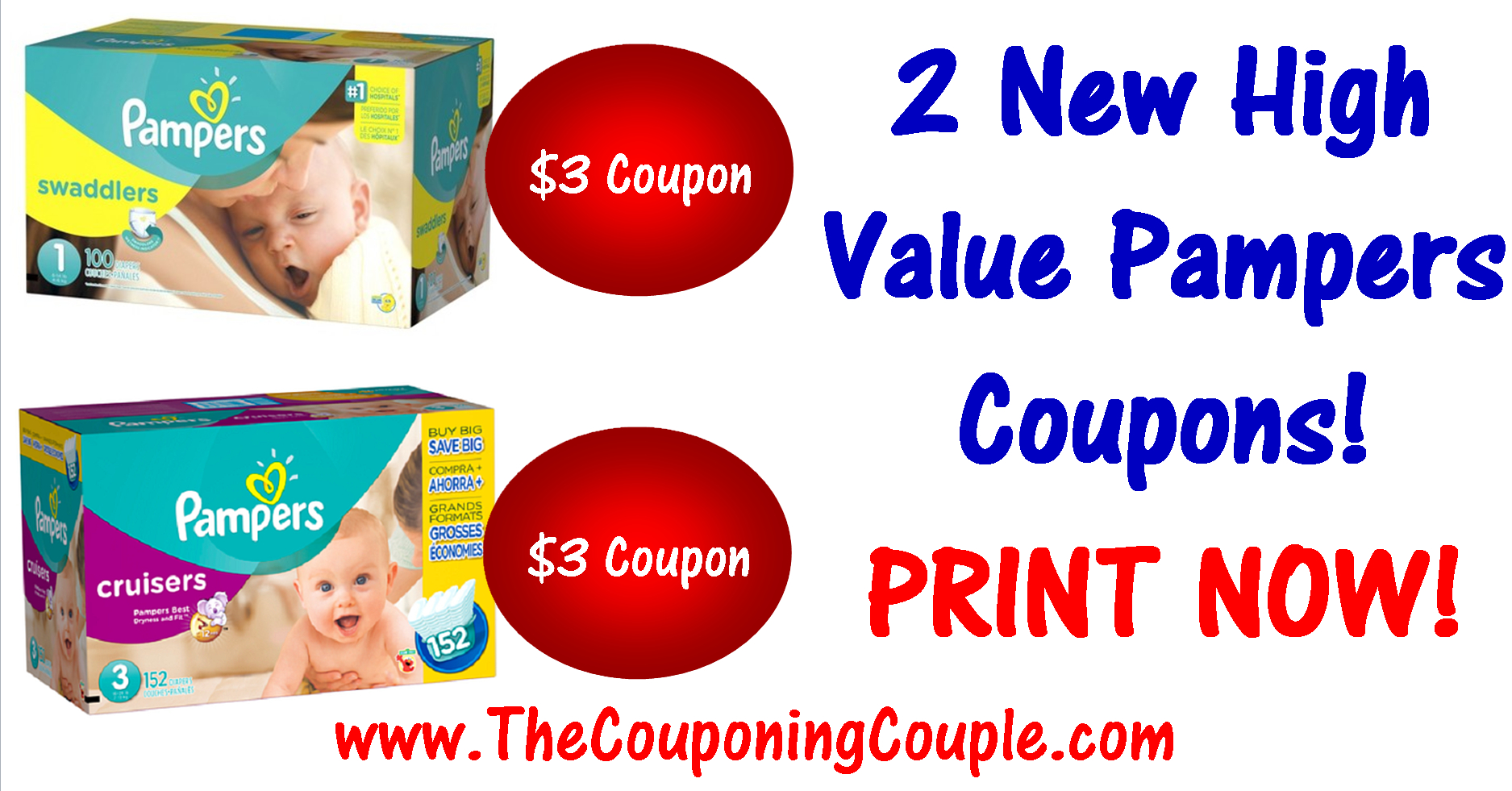 2 New Pampers Printable Coupons ~ High Value Print Now! - Free Printable Pampers Swaddlers Coupons