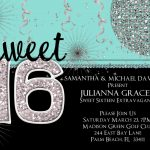 20 Best 16Th Birthday Party Invitations   Home Inspiration And Diy   Free Printable Sweet 16 Birthday Party Invitations