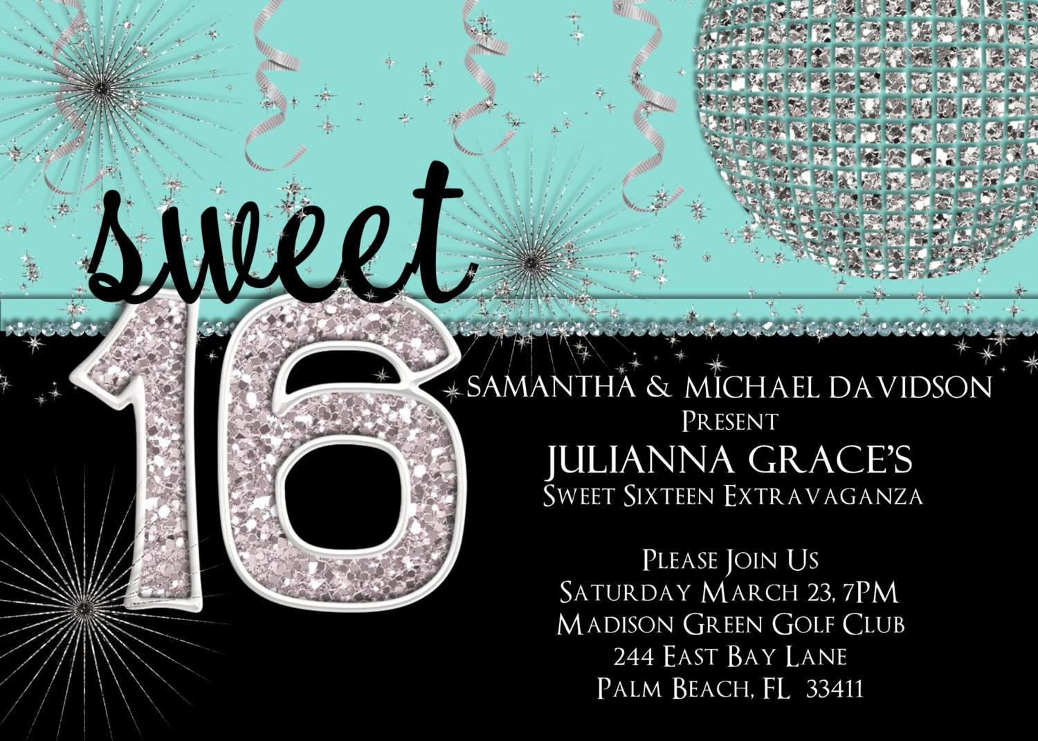 20 Best 16Th Birthday Party Invitations - Home Inspiration And Diy - Free Printable Sweet 16 Birthday Party Invitations