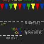 20 First Day Of School Signs + Photo Ideas 📸   Motherly   My First Day Of Kindergarten Free Printable