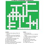 20 Fun Printable Christmas Crossword Puzzles | Kittybabylove   Free Printable Christmas Crossword Puzzles For Adults