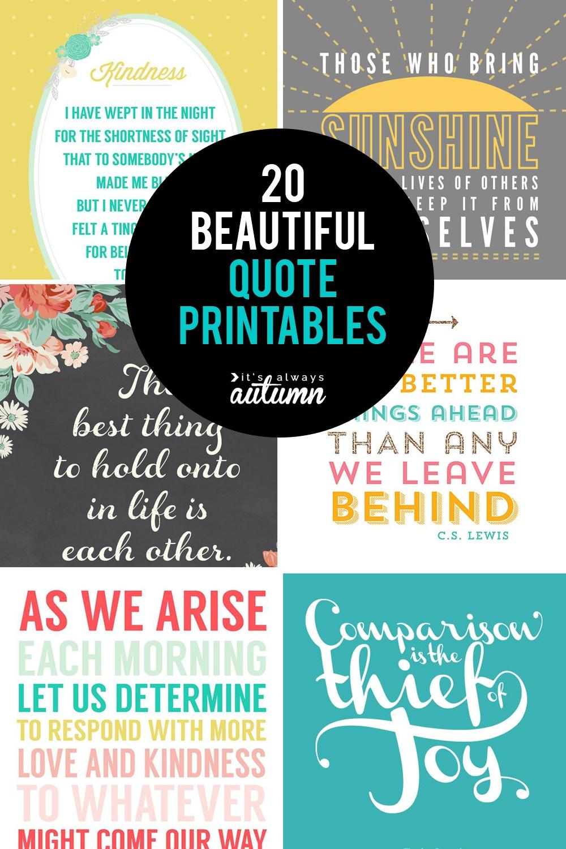 20 Gorgeous Printable Quotes | Free Inspirational Quote Prints - Free Printable Inspirational Quotes