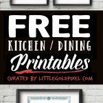 20 Kitchen Free Printables • Wall Art Roundup • Little Gold Pixel   Free Kitchen Printables