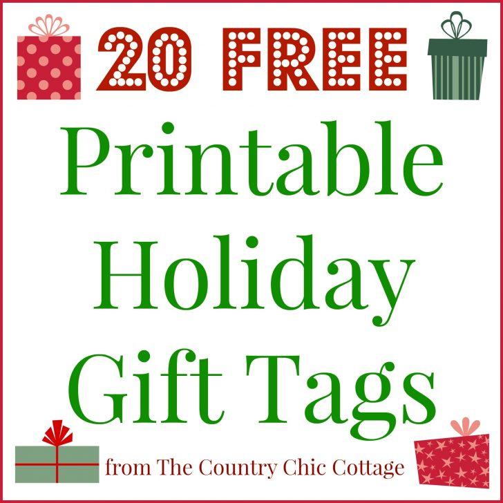 Christmas Name Tags Free Printable