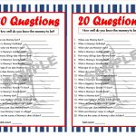 20 Questions Nautical Printable Party Game Nautical Baby | Etsy   Who Knows Mommy And Daddy Best Free Printable