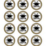 2019 Graduation Themed Cupcake Topper | Graduation Cakes   Free Printable Graduation Cupcake Toppers