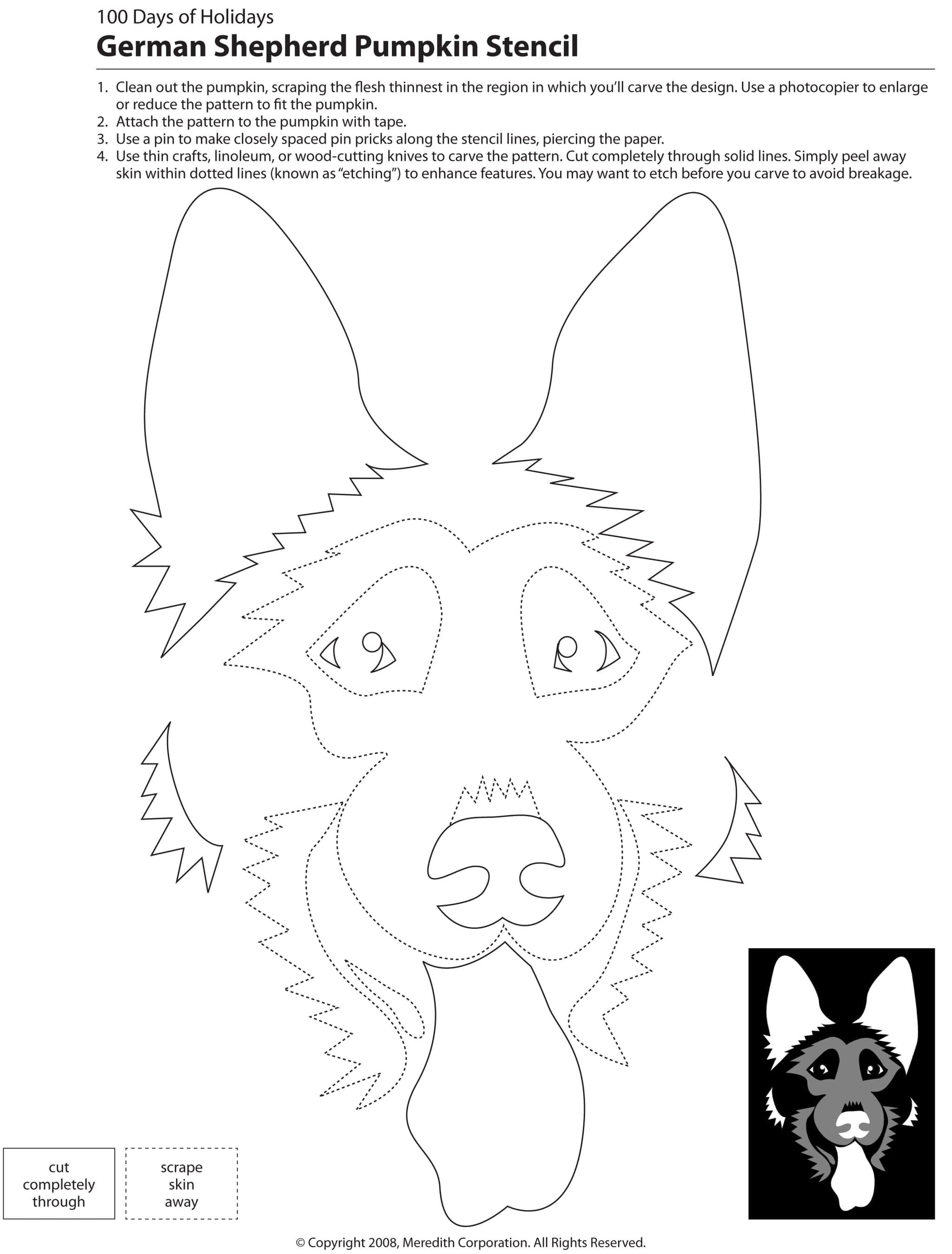 22 Free Pumpkin Carving Dog Stencils (Breed Specific) | Applique - Free Printable Pumpkin Carving Templates Dog