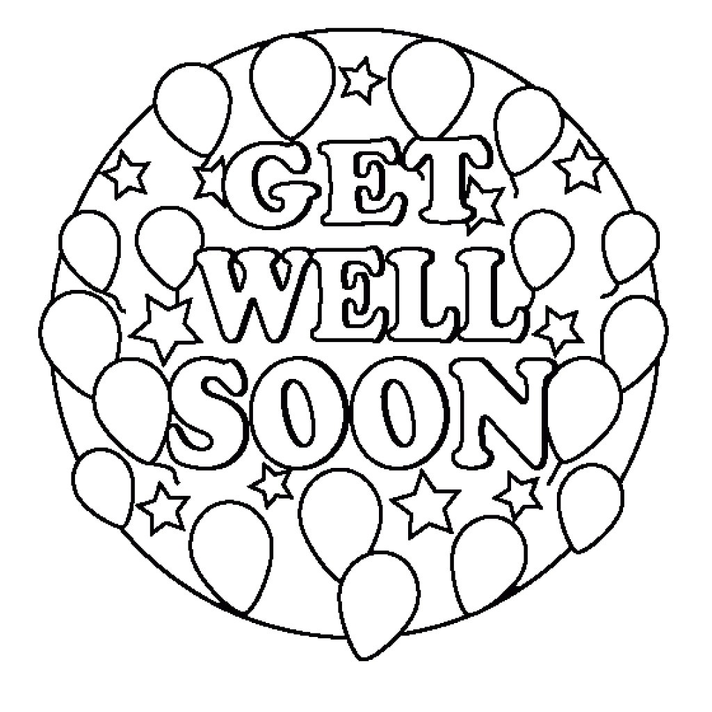 24 Comforting Printable Get Well Cards | Kittybabylove - Free Printable Get Well Card For Child To Color