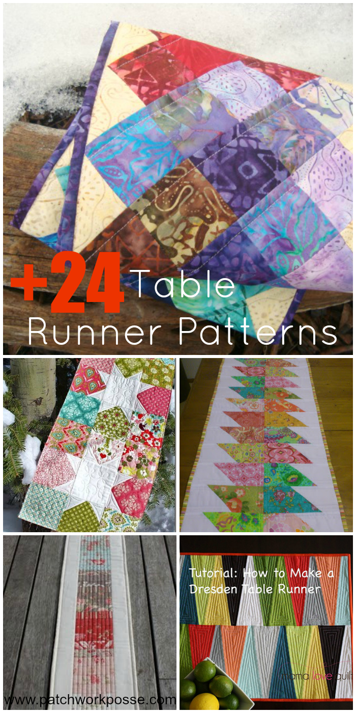 24+ Table Runner Patterns - Quilt Patterns Free Printable