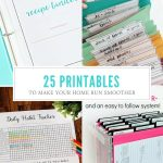 25+Free Printables For Organizing Home Life   Free Printables For Home