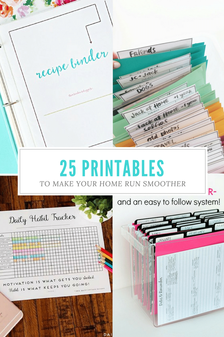 25+Free Printables For Organizing Home Life - Free Printables For Home