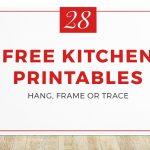 28 Free & Fun Kitchen Printables | Kitchen Cabinet Kings   Free Kitchen Printables