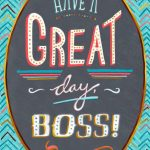 28 Great Boss's Day Cards | Kittybabylove   Happy Boss Day Cards Free Printable