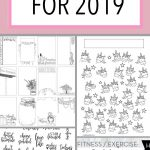 29 Free Bullet Journal Printables To Snag For 2019 | The Petite   Free Bullet Journal Printables 2019