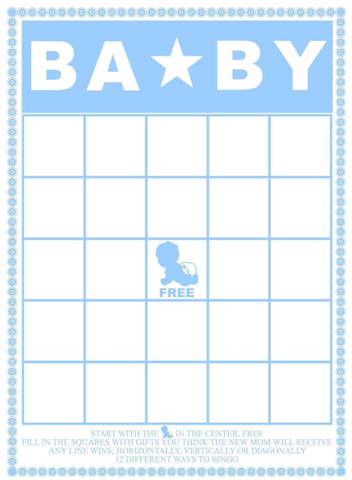 29 Sets Of Free Baby Shower Bingo Cards Pertaining To Baby Bingo - Baby Shower Bingo Template Free Printable