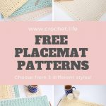 3 Easy To Crochet Placemat Patterns   Sunny Hollow Set   Crochet . Life   Free Printable Placemat Patterns