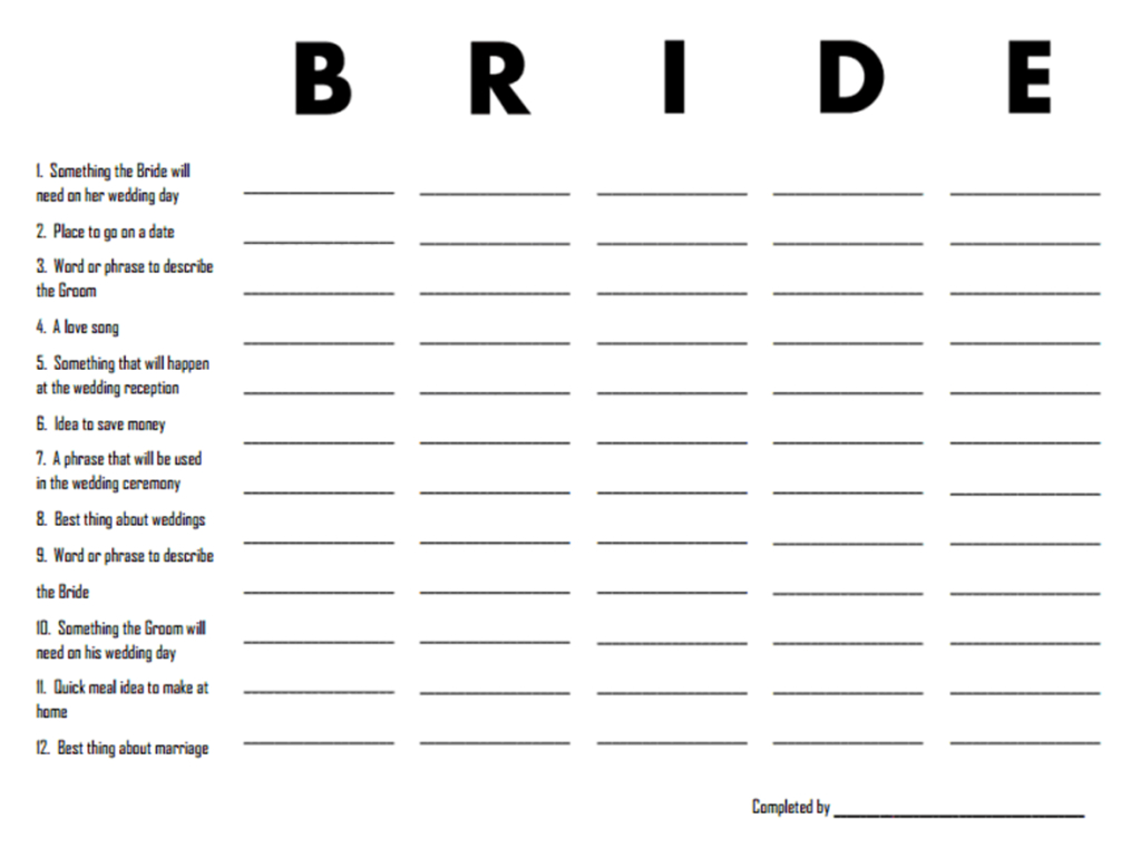 3 Free Printable Bridal Shower Games (That Are Actually Fun - Free Printable Bridal Shower Games And Activities