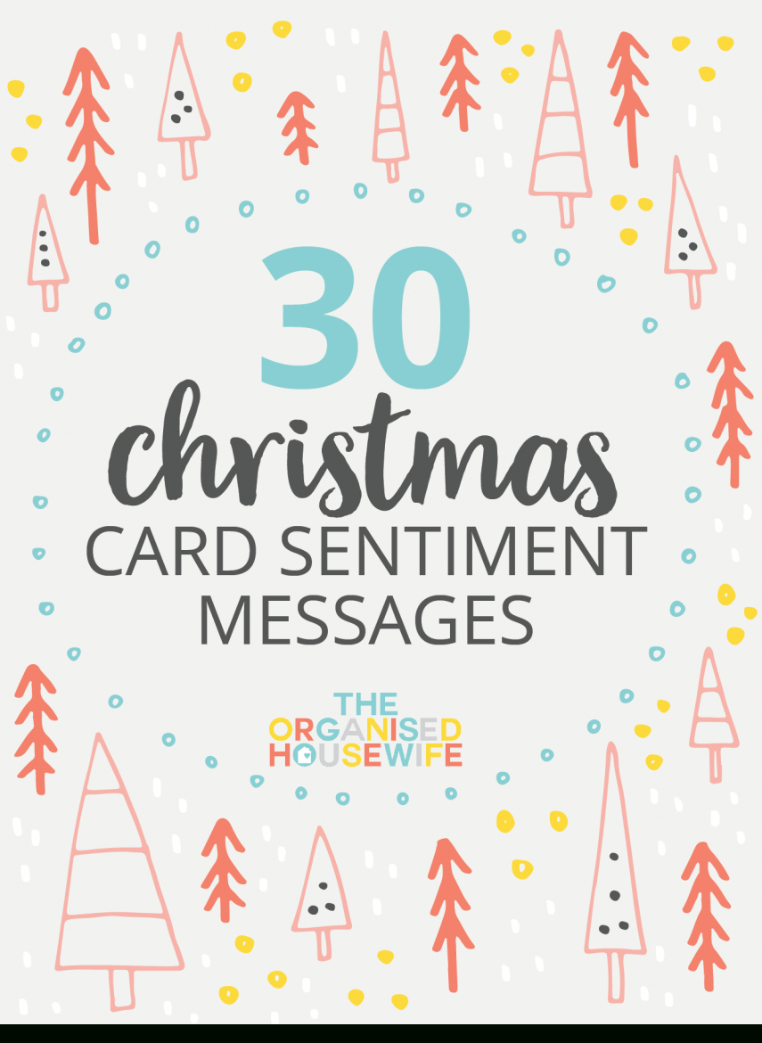30+ Christmas Card Sentiment Messages - The Organised Housewife - Free Printable Christian Christmas Greeting Cards