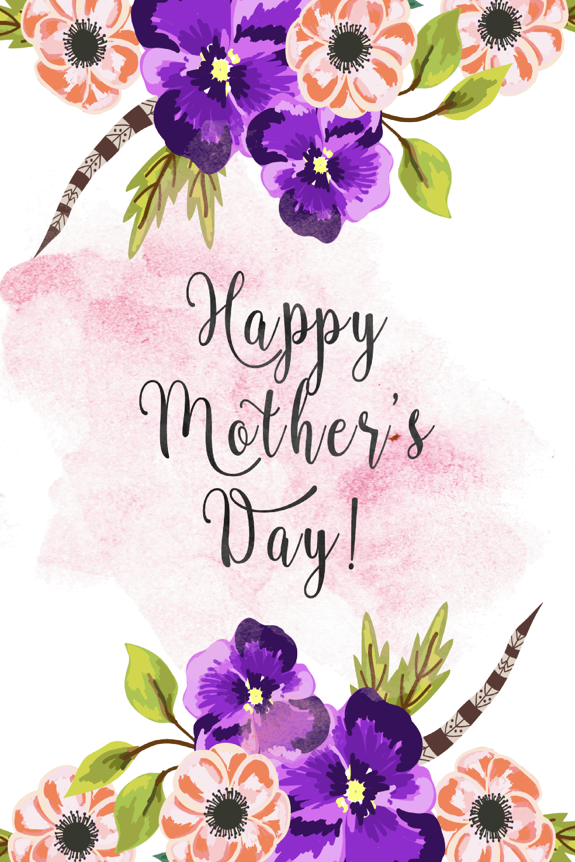 30 Cute Free Printable Mothers Day Cards - Mom Cards You Can Print - Free Printable Mothers Day Cards No Download