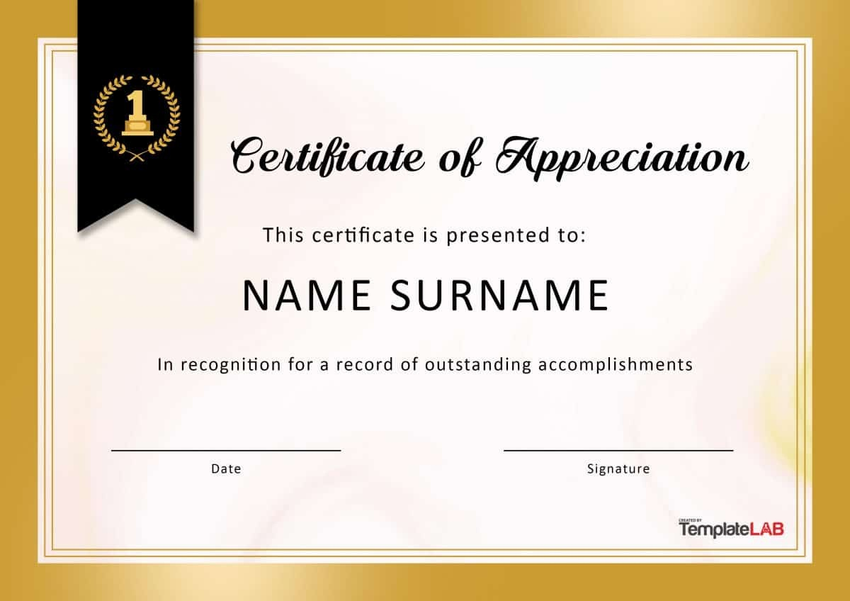 30 Free Certificate Of Appreciation Templates And Letters - Free Printable Volunteer Certificates Of Appreciation