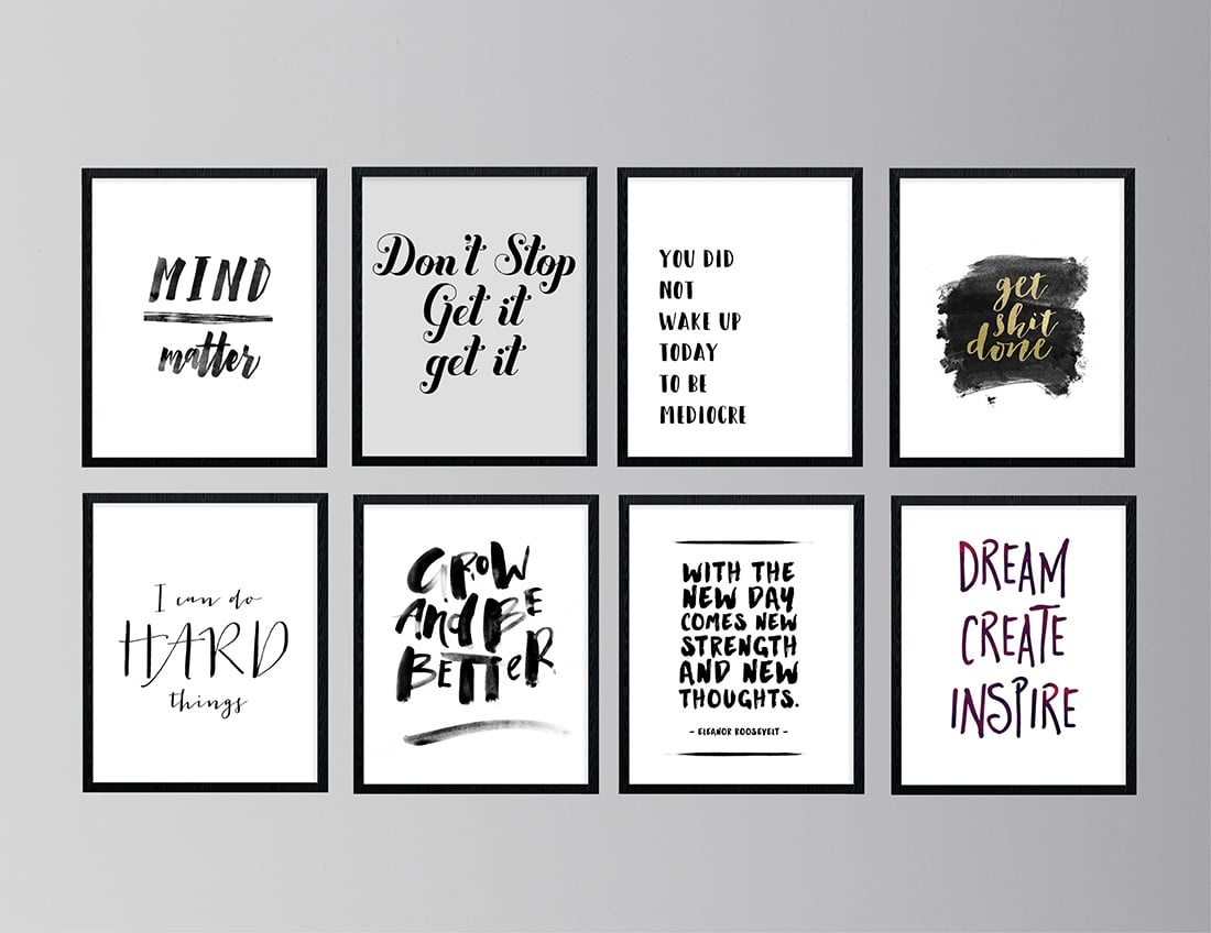 30 Free Inspirational Quotes To Help You Kill It This Year • Little - Free Printable Inspirational Quotes