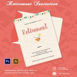 30+ Retirement Invitation Templates   Psd, Ai, Word | Free & Premium   Free Printable Retirement Cards