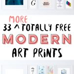 33 More Totally Free Modern Art Printables For Your Walls   Fox + Hazel   Free Printable Wall Art Prints