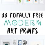 33 Totally Free Modern Art Printables For Your Home | *all Things   Free Printable Artwork For Home