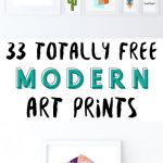 33 Totally Free Modern Art Printables For Your Home   Fox + Hazel   Free Printable Artwork For Home