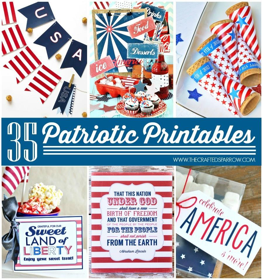 35 Free Patriotic Printables - Free Printable Patriotic Banner