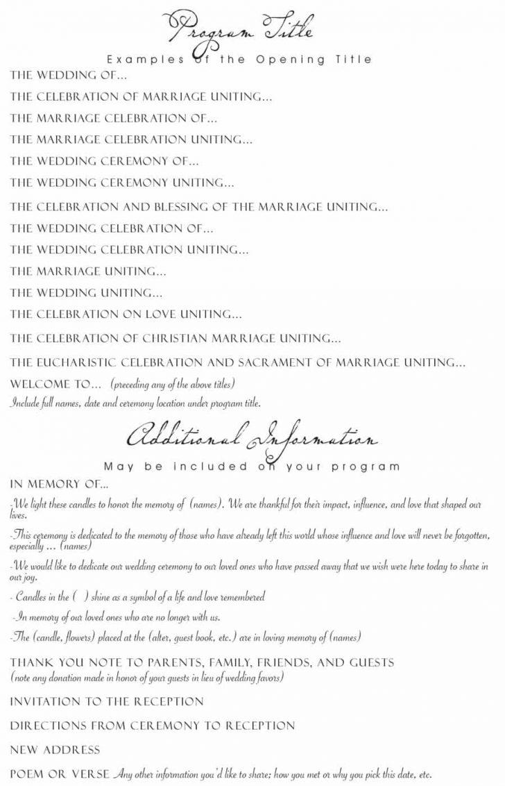 Free Printable Wedding Party List