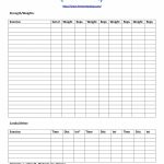 40+ Effective Workout Log & Calendar Templates ᐅ Template Lab   Free Printable Workout Log Template