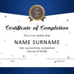 40 Fantastic Certificate Of Completion Templates [Word, Powerpoint]   Free Online Courses With Printable Certificates