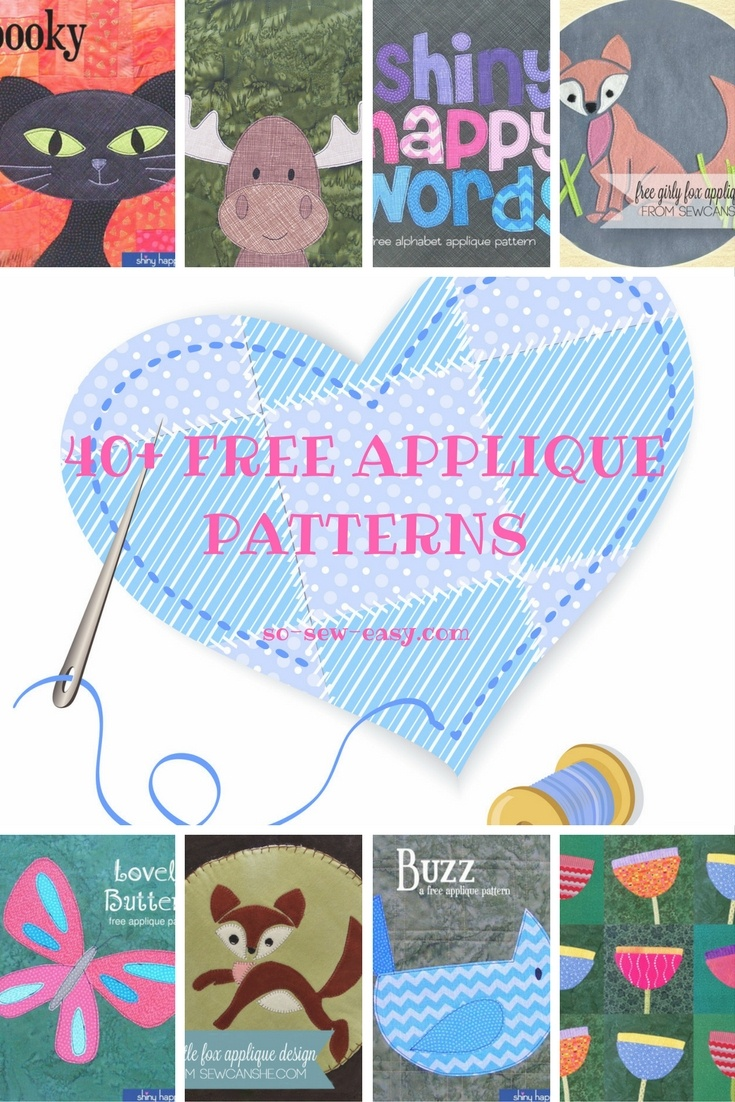 40+ Free Applique Patterns: Designs For All Occasions - So Sew Easy - Free Printable Flower Applique Patterns