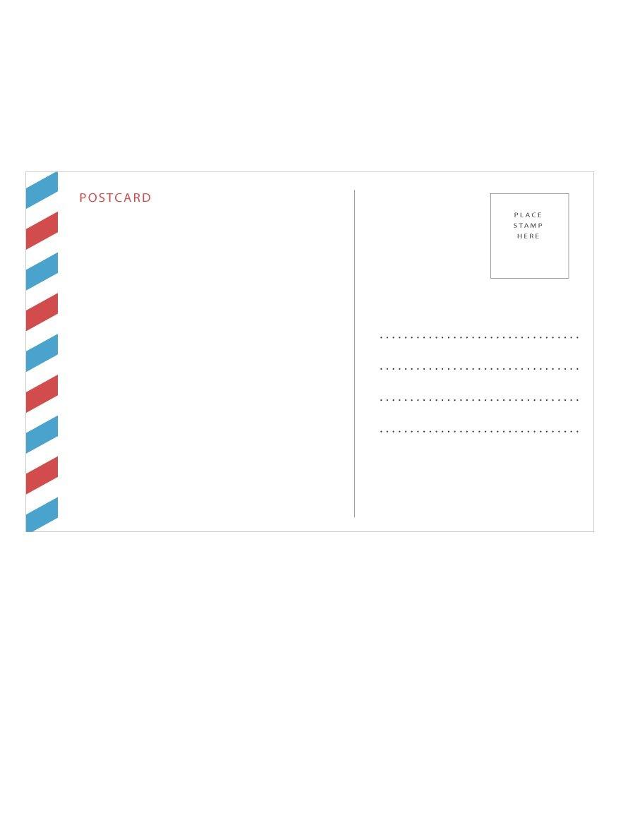 40+ Great Postcard Templates & Designs [Word + Pdf] ᐅ Template Lab - Free Printable Postcards