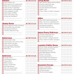 40 Printable House Cleaning Checklist Templates ᐅ Template Lab   Free Printable House Cleaning Checklist For Maid