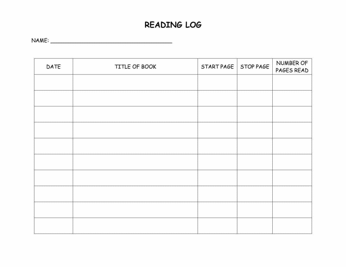 47 Printable Reading Log Templates For Kids, Middle School & Adults - Free Printable Kindergarten Level Books
