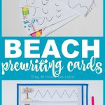 5 Beach Theme Printables Plus Free Prewriting Cards Printable   Stay   Free Printable Beach Pictures