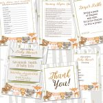 5 Darling Woodland Animal Baby Shower Free Printables And Ideas For   Woodland Baby Shower Games Free Printables