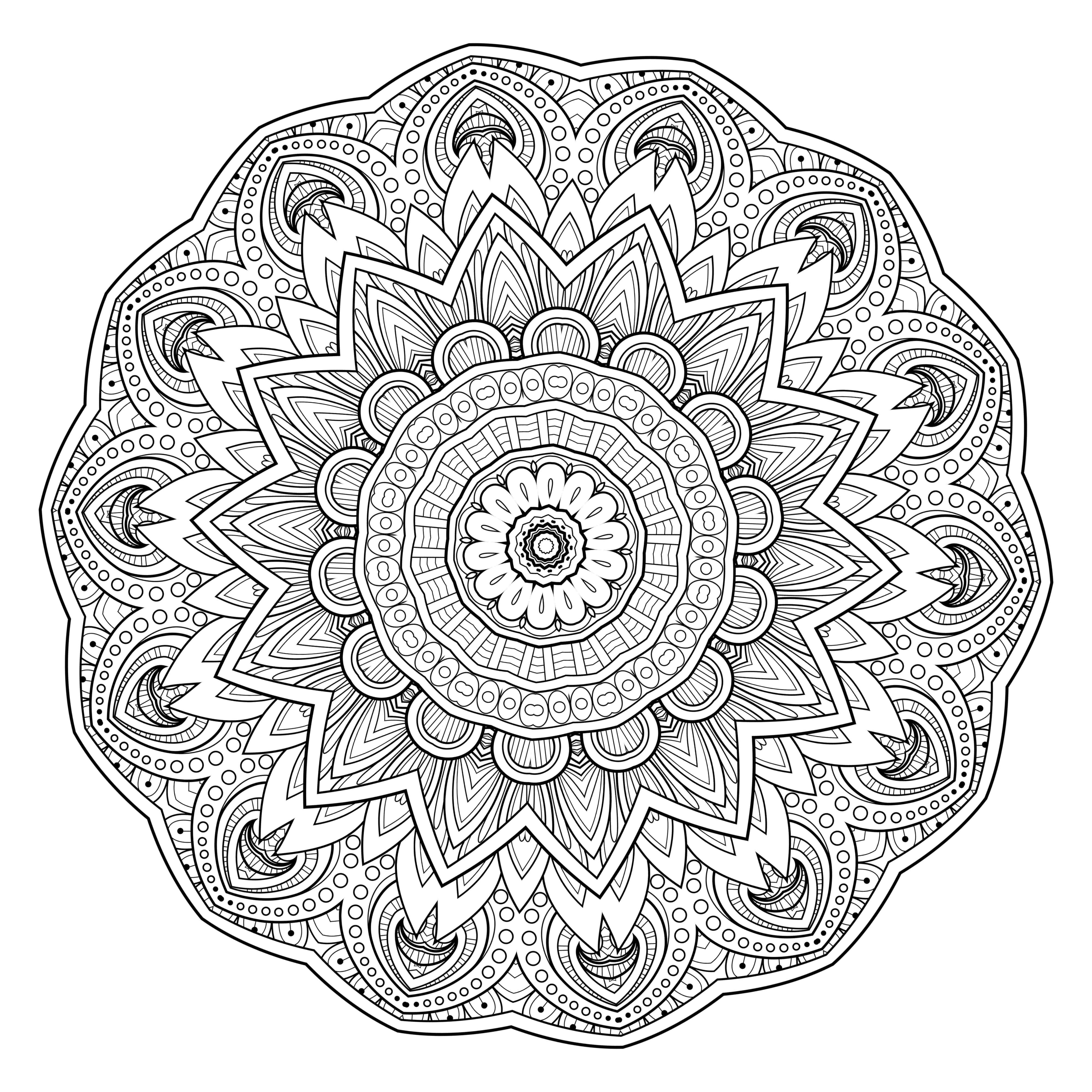 5 Free Printable Coloring Pages: Mandala Templates - Free Mandalas To Colour In Printable