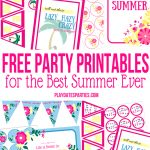 5 Free Printables That Will Make Your Summer Spectacular   Free Party Printables